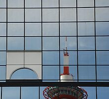 Kyoto Tower Reflected  by jojobob