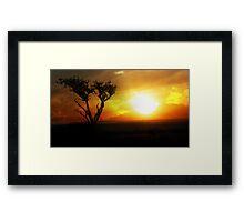 Sunrise Tree - Masai Mara Framed Print