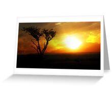 Sunrise Tree - Masai Mara Greeting Card