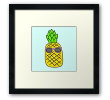 Cool Pineapple Framed Print