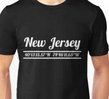 New Jersey - State Coordinates Unisex T-Shirt