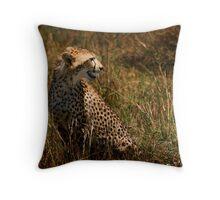 Wild & Free - Cheetah in the Masai Mara Throw Pillow