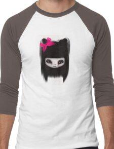 Little Scary Doll Updated Men's Baseball ¾ T-Shirt