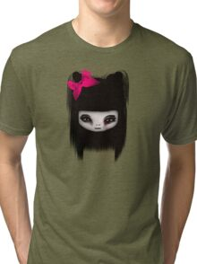 Little Scary Doll Updated Tri-blend T-Shirt