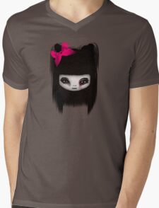 Little Scary Doll Updated Mens V-Neck T-Shirt
