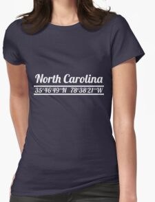 North Carolina - State Coordinates Womens Fitted T-Shirt
