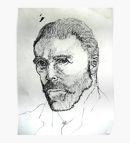 Portrait of Vincent ( Homage to Vincent VanGogh ) Poster