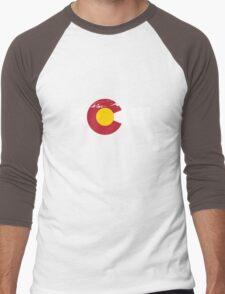 Rocky Mountains - Colorado Flag Men's Baseball ¾ T-Shirt