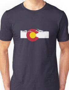 Rocky Mountains - Colorado Flag Unisex T-Shirt