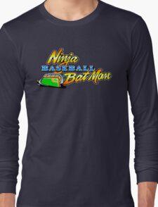 Ninja Baseball Bat Man Long Sleeve T-Shirt