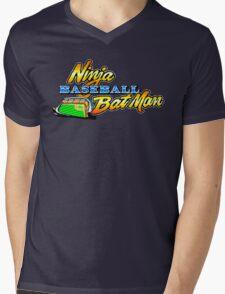Ninja Baseball Bat Man Mens V-Neck T-Shirt