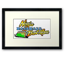 Ninja Baseball Bat Man Framed Print