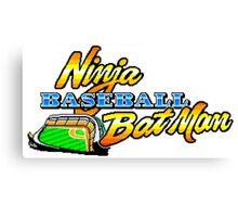 Ninja Baseball Bat Man Canvas Print