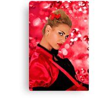 Blonde Fashion Girl Portrait Fine Art Print Canvas Print