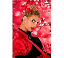Blonde Fashion Girl Portrait Fine Art Print Photographic Print