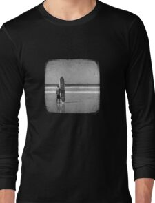 Stand by your Board - Halftone (White) Long Sleeve T-Shirt