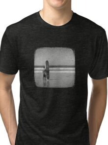 Stand by your Board - Halftone (White) Tri-blend T-Shirt
