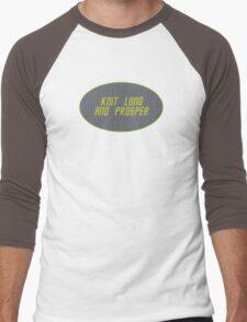 Knit Long and Prosper Men's Baseball ¾ T-Shirt