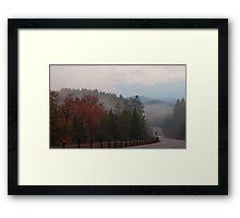 Misty Dawning in Algonquin Park Framed Print