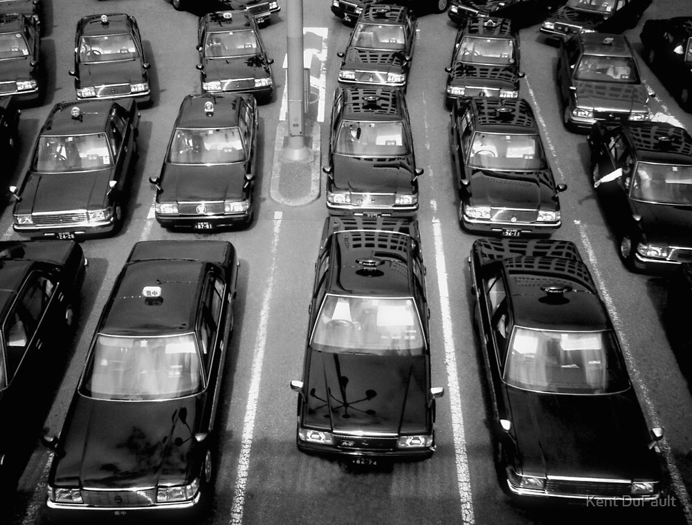 Taxicabs - Toyko by Kent DuFault