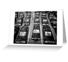 Taxicabs - Toyko Greeting Card