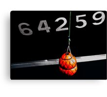 boat reference number Canvas Print