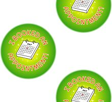 Spoonie Stickers - I booked an appointment! (small) by Parkertron