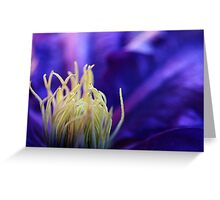 kerrie's clematis Greeting Card