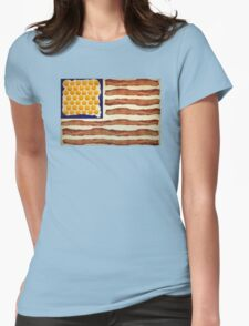 Egg'n'Bacon Flag Womens Fitted T-Shirt