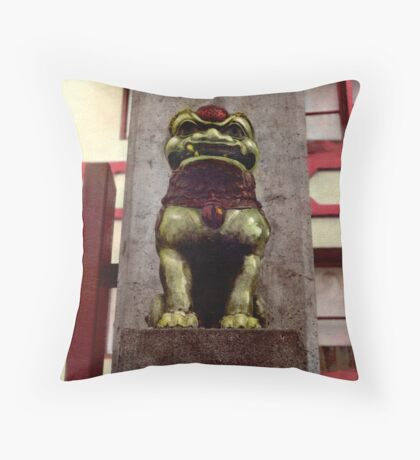 Guarding Ping Yuen Throw Pillow