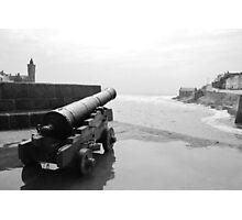 Guns of Porthleven Photographic Print