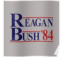 Reagan Bush '84 Election Vintage  Poster