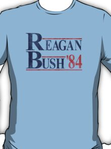 Reagan Bush '84 Election Vintage  T-Shirt