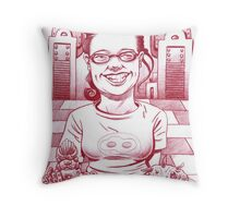 Waitress at Maggies Throw Pillow