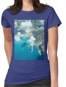 an inspiring Sint Maarten landscape Womens Fitted T-Shirt