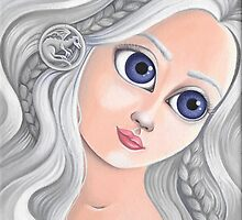Daenerys Targaryen with Big Eyes by hellbereth