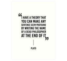 Funny Quote Art Print