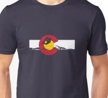 Snowboarder - Colorado Flag Unisex T-Shirt