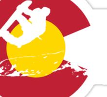 Snowboarder - Colorado Flag Sticker