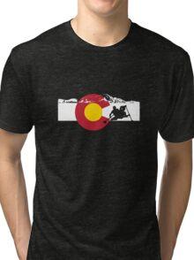 Whitewater Rafting - Colorado Flag Tri-blend T-Shirt