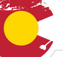 Whitewater Rafting - Colorado Flag Sticker