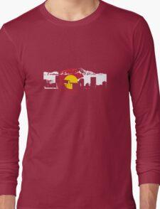 Denver Skyline - Colorado Flag Long Sleeve T-Shirt