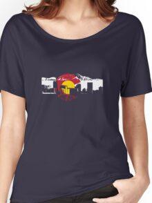 Denver Skyline - Colorado Flag Women's Relaxed Fit T-Shirt