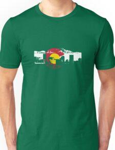 Denver Skyline - Colorado Flag Unisex T-Shirt
