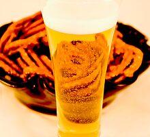 Beer & Pretzels by bunnij