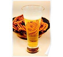 Beer & Pretzels Poster