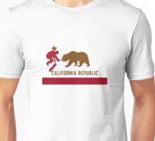 Skateboard - California Flag Unisex T-Shirt