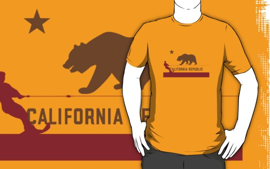 Waterski - California Flag by FlagSilhouettes