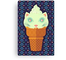 Strawberry-Mint Cat Canvas Print