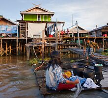 Borneo - By the river by Flemming Bo Jensen